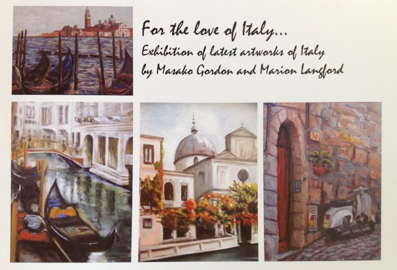 """For the love of Italy"" Exhibition, Yuga Cafe & Gallery, 172 St Johns Road, Glebe, 25 April - 1 May 2013"
