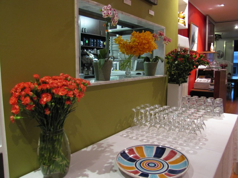 "Flowers opening night ""For the love of Italy"" Exhibition at Yuga Cafe and Gallery, Glebe"