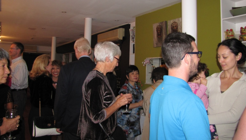 "Guests at opening of ""For the love of Italy"" Exhibition at Yuga Cafe & Gallery, Glebe"