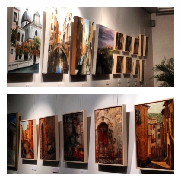 """For the love of Italy"" Exhibition, some of the paintings..."