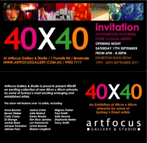 40x40 Exhibition Invitation
