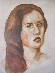 Inspired by Rosetti:  Girl with Red Hair
