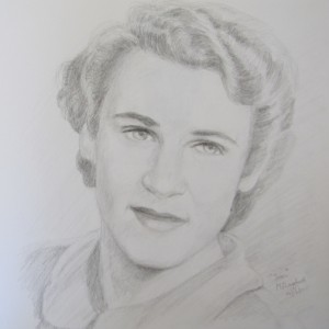Joan, pencil on paper