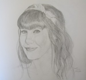 Laura, pencil on paper